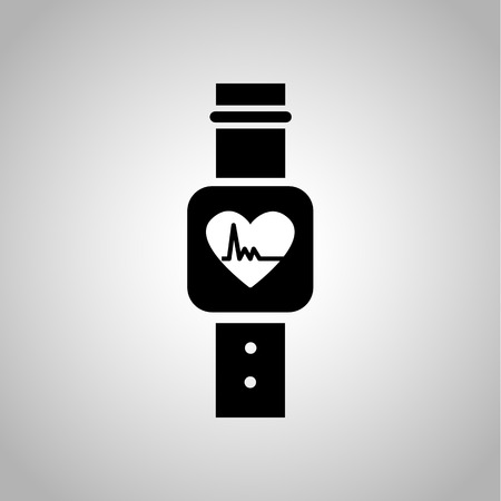 rhythm: Heart rhythm clock icon on the background
