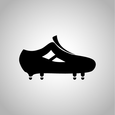 Football boots icon on the background Illustration