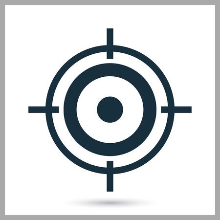 marksmanship: Target for biathlon icon on the background Illustration