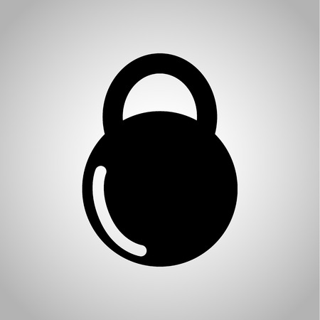 thinness: Sport dumbbell icon on the background Illustration