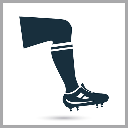 ease: Football playre leg icon on the background Illustration