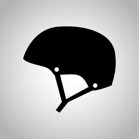 solid: Motorcycle helmet icon on the background