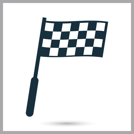 finish flags: Finish flags icon on the background Illustration