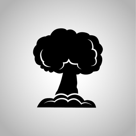 nuclear weapon: Nuclear explosion icon on the background