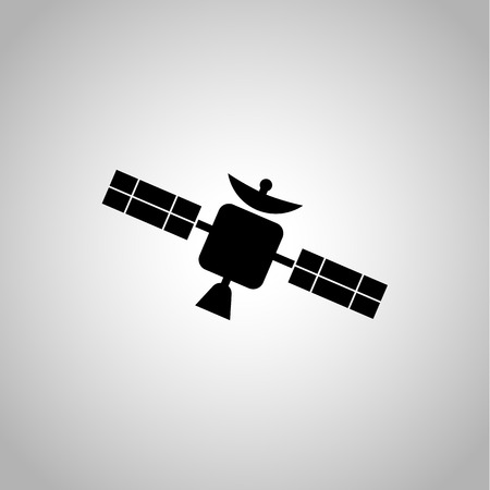 transmit: Satellite icon on the background Illustration
