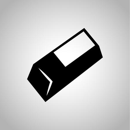eraser: Eraser icon on the background Illustration