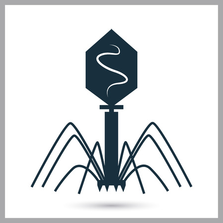 bacteriophage: Bacteriophage icon on the background