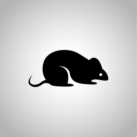 experimental: Experimental rat icon on the background Illustration