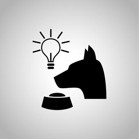 Pavlov's dog icon on the background