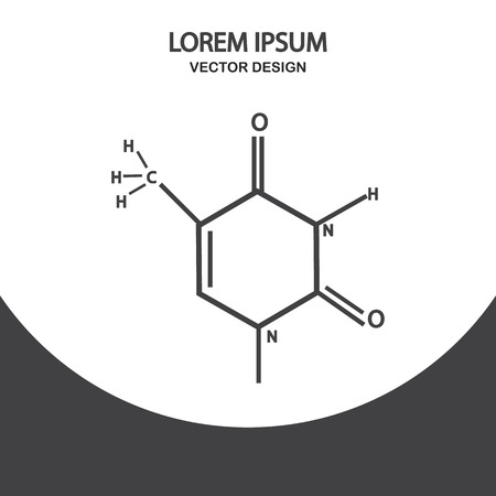 chemical compound: Scheme of a chemical compound icon on the background Illustration