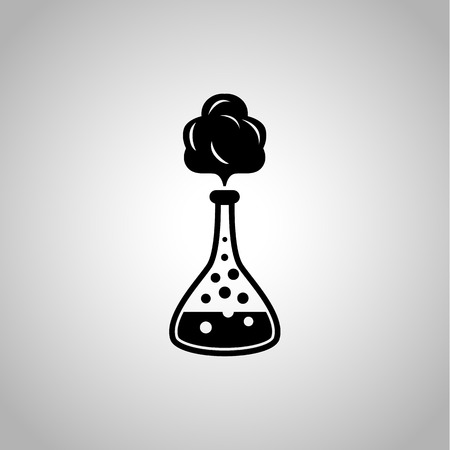 reagent: School chemistry flask with reagent icon