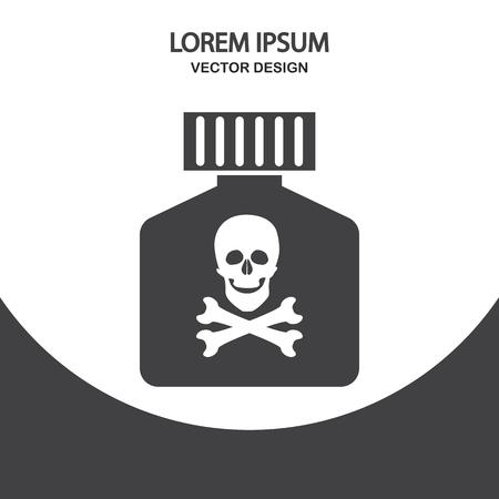 poison: Poison icon on the background Illustration