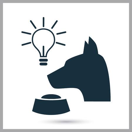 Pavlovs dog icon on the background