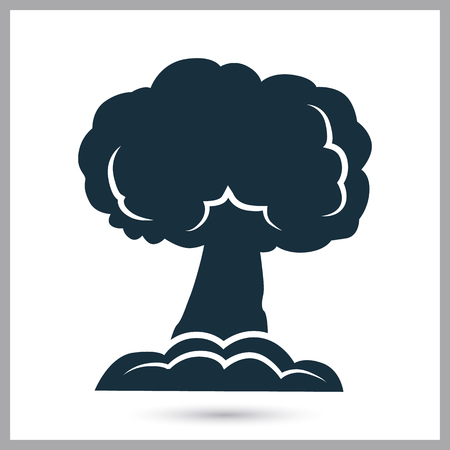 chemical weapons: Nuclear explosion icon on the background