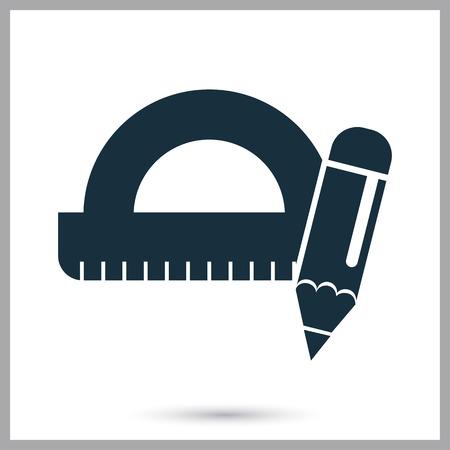 배경에 연필과 ruller 아이콘