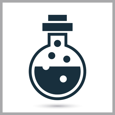 flasks: Chemical flasks icon on the background