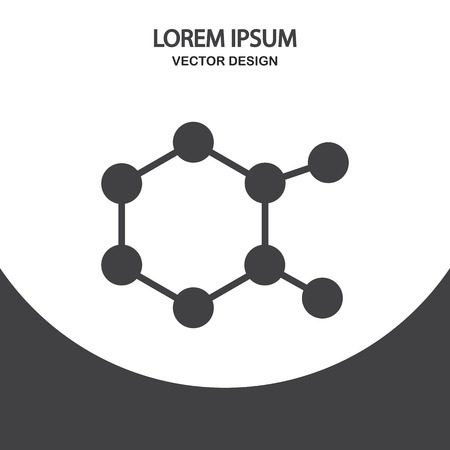 compound: Chemical compound icon on the background