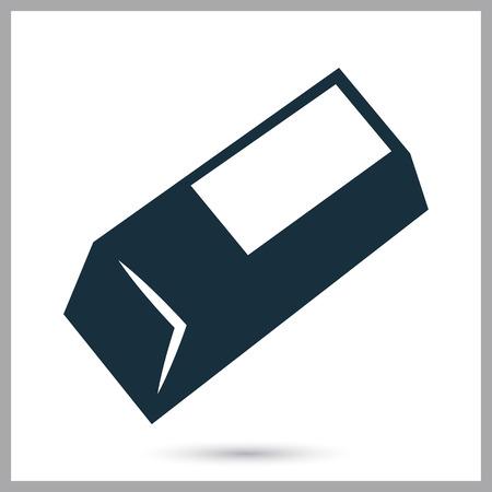 eraser mark: Eraser icon on the background Illustration