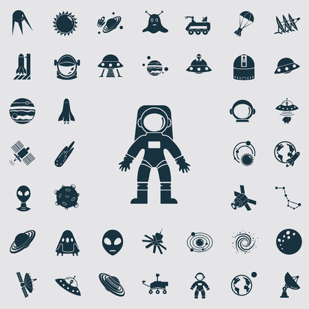 conquer: Set of forty cosmos icons Illustration
