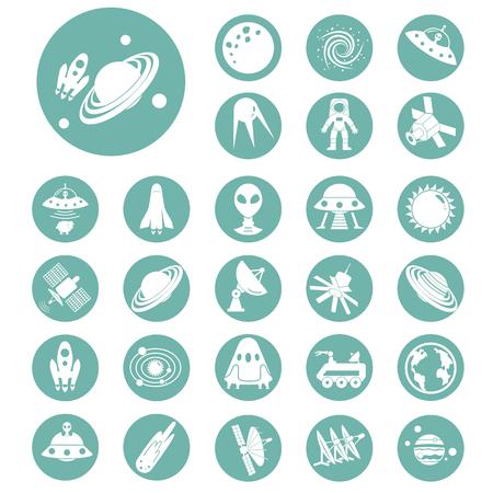 rower: Set of twenty seven cosmos icons