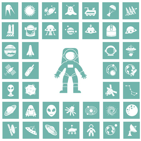 Set of forty cosmos icons