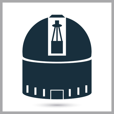 conquer: Space observatory icon on the background