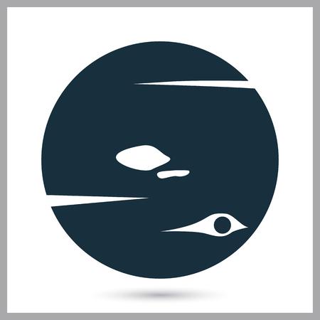 neptune: Neptune planet icon on the background Illustration