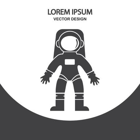 impenetrable: Astronaut icon on the background Illustration