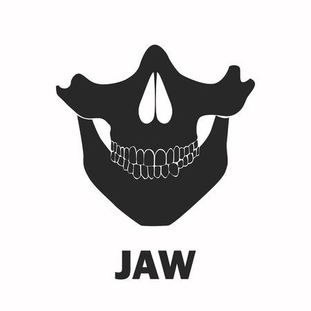 chew: Human jaw black icon