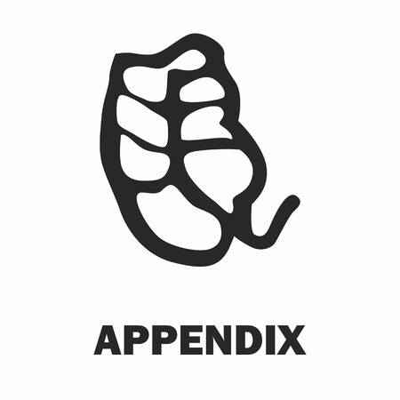 appendix: Human appendix black icon