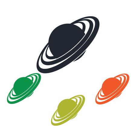 uranus: Uranus panet icon on the background Illustration