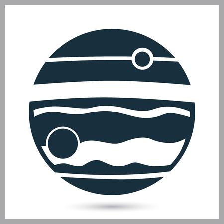 conquer: Jupiter panet icon on the background Illustration