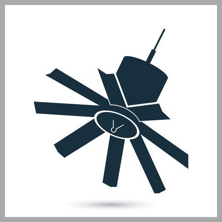 satelite: Satelite icon on the background