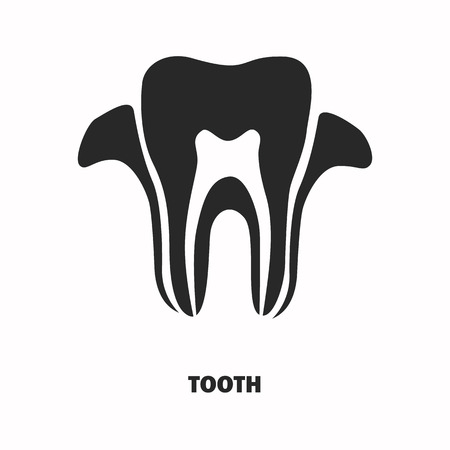 chew: Human tooth section black icon