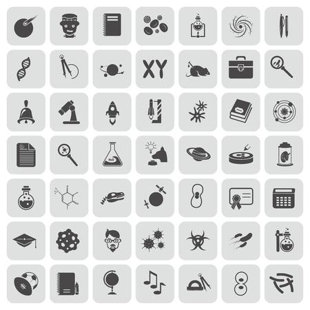 dog sled: Set of forty nine education and science icons Illustration