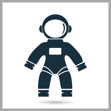 Astronaut suit icon on the background