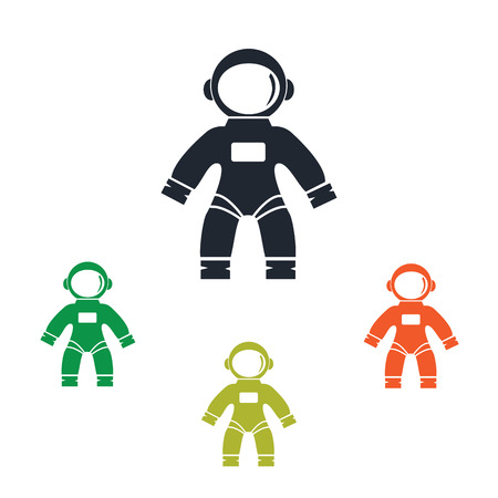 conquer: Astronaut suit icon on the background