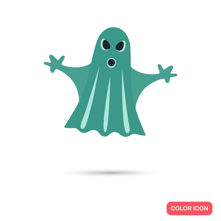 Ghost color flat icon