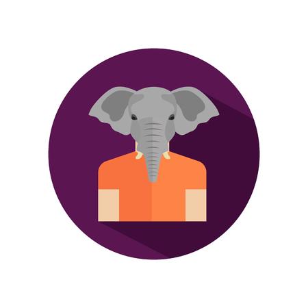 elephant head: Human avatar with elephant head Illustration