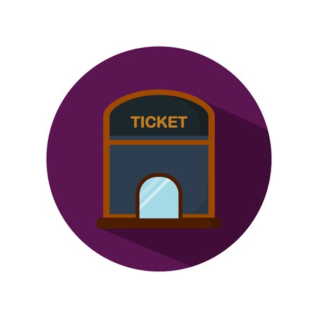 ticket office: Cinema ticket office color flat icon