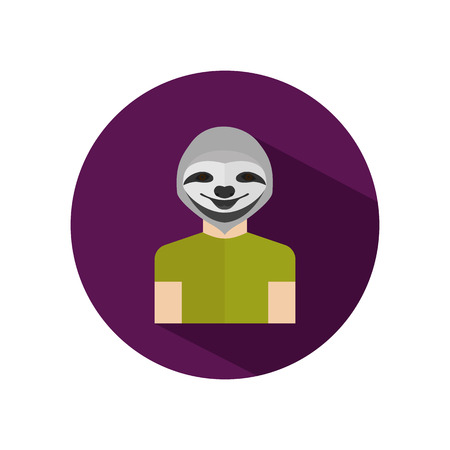 sloth: avatar humano con cabeza de la pereza Vectores