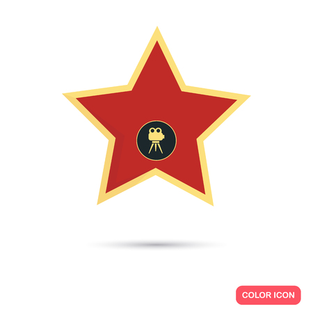 walk of fame: Star from the Walk of Fame color flat icon Illustration
