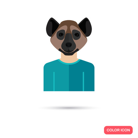 hyena: Human avatar with hyena head Illustration
