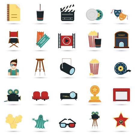 twenty five: Set of twenty five color flat icons Illustration