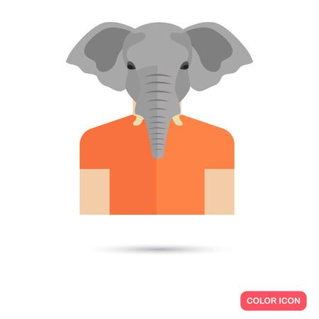 tusk: Human avatar with elephant head Illustration