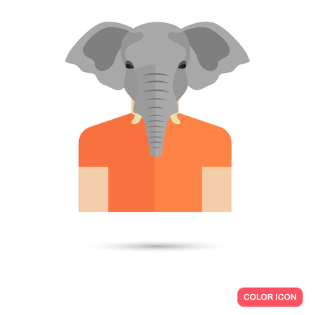 Human avatar with elephant head Illustration