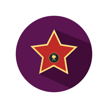 fame: Star from the Walk of Fame color flat icon Illustration