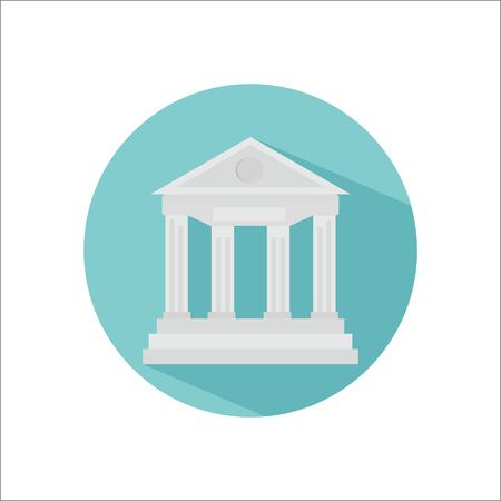 Bank color flat icon Illustration