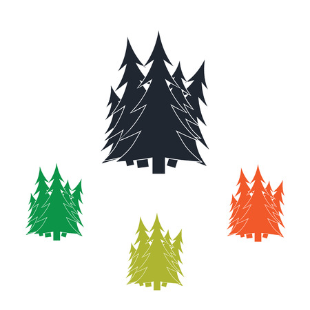 pine forest: Pine forest icon