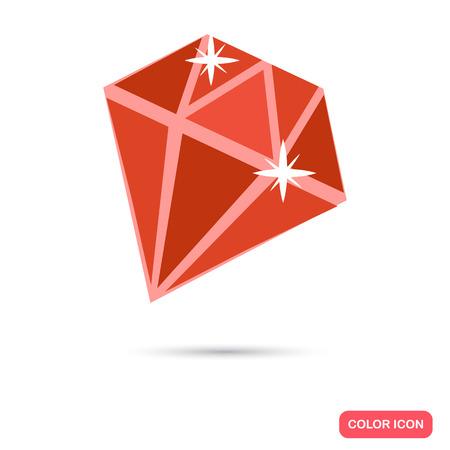 Gemstone color flat icon